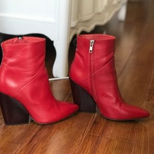 Iro Red Leather Boots